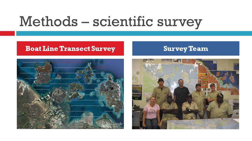 Methods – scientific survey Boat Line Transect SurveySurvey Team