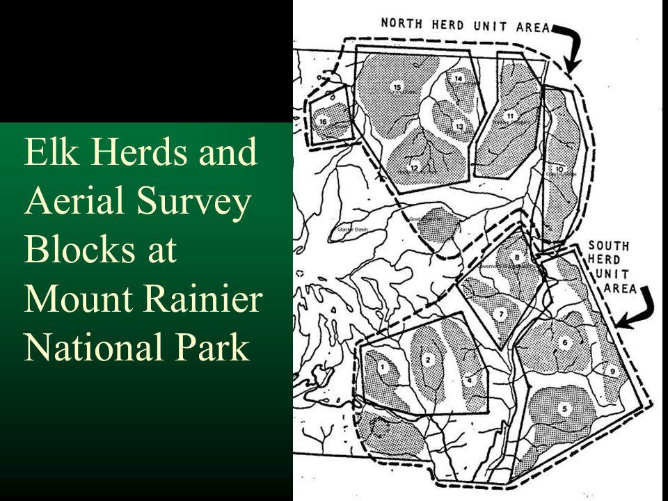 Elk Herds and Aerial Survey Blocks at Mount Rainier National Park
