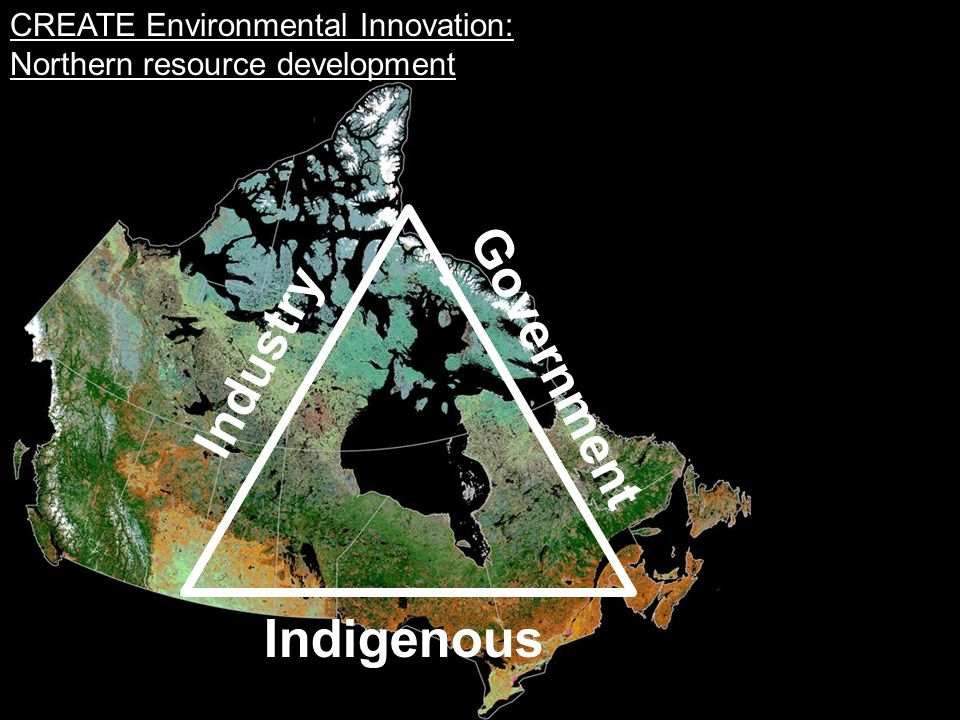 CREATE Environmental Innovation: Northern resource development Industry Government Indigenous