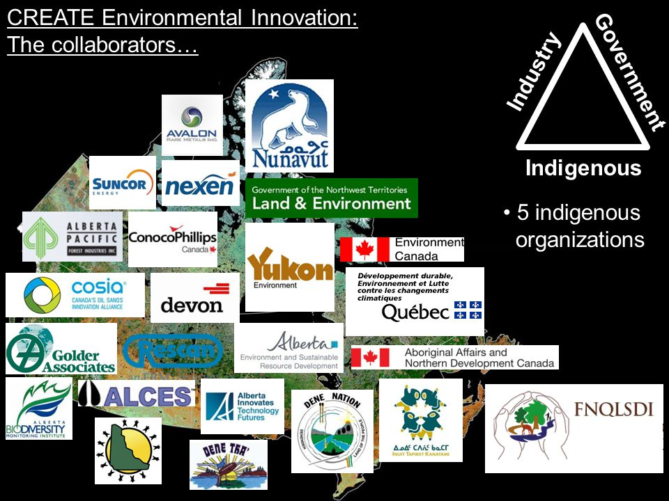 CREATE Environmental Innovation: The research and training… Industry Government Indigenous