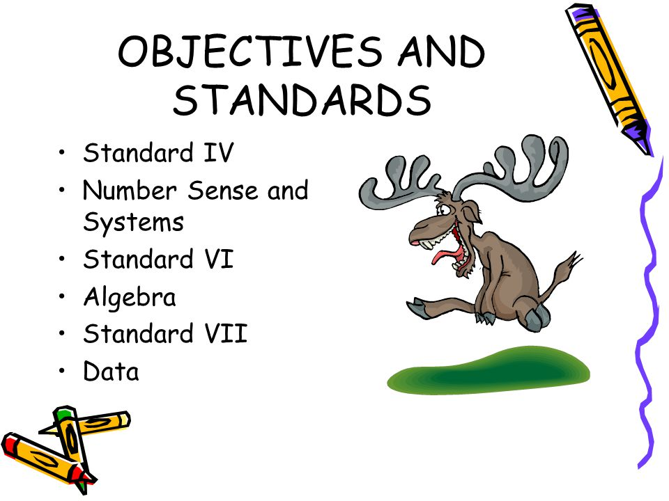OBJECTIVES AND STANDARDS Standard I – Problem Solving and Reasoning.