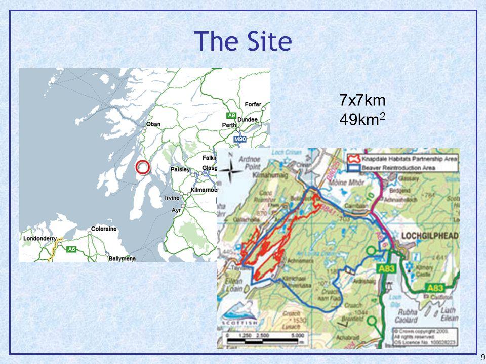 The Site 9 7x7km 49km 2