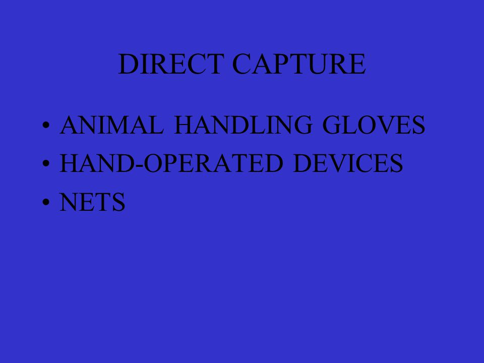 DIRECT CAPTURE ANIMAL HANDLING GLOVES HAND-OPERATED DEVICES NETS