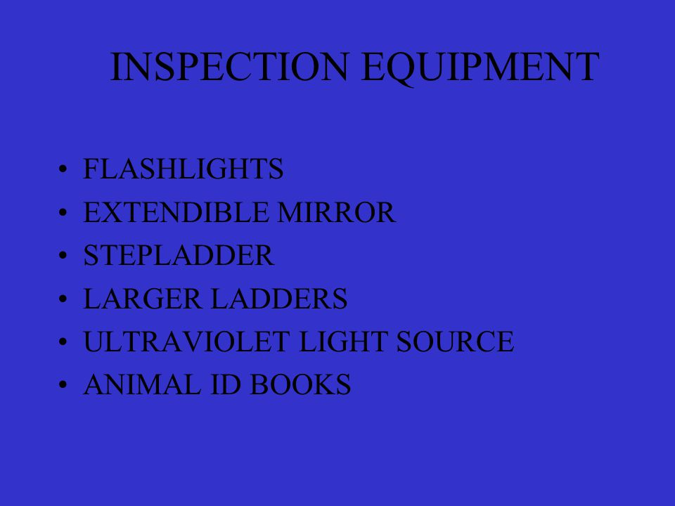 SAFETY EQUIPMENT RESPIRATOR (HEPA Filter) GOGGLES KNEEPADS DISPOSABLE GLOVES SAFETY HELMET BUNGEE CORDS (Securing Ladders) SAFETY ROPES/HARNESSES