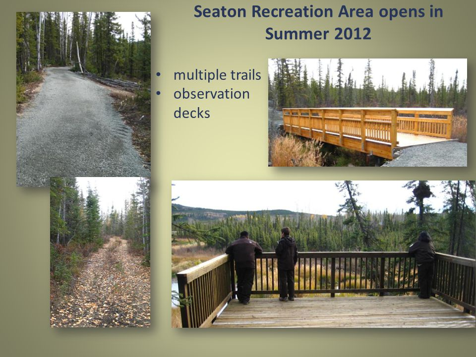 Seaton Recreation Area opens in Summer 2012 multiple trails observation decks