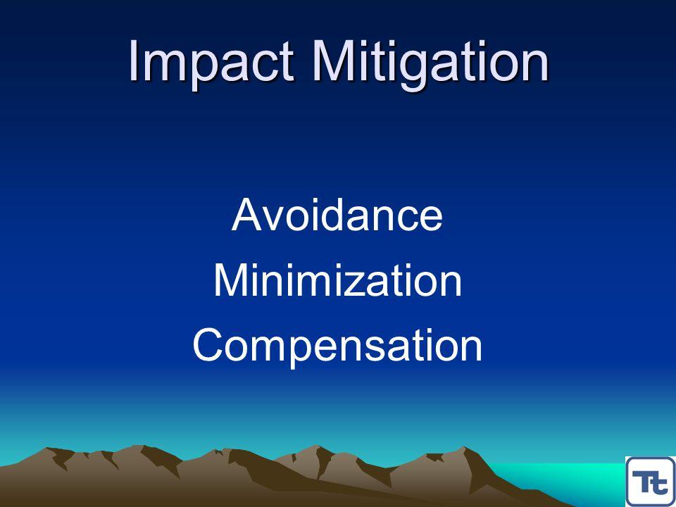 Impact Mitigation Avoidance Minimization Compensation
