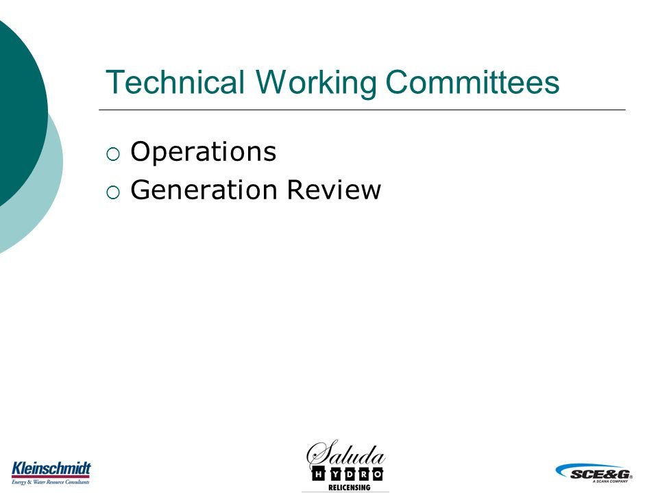 Technical Working Committees  Operations  Generation Review
