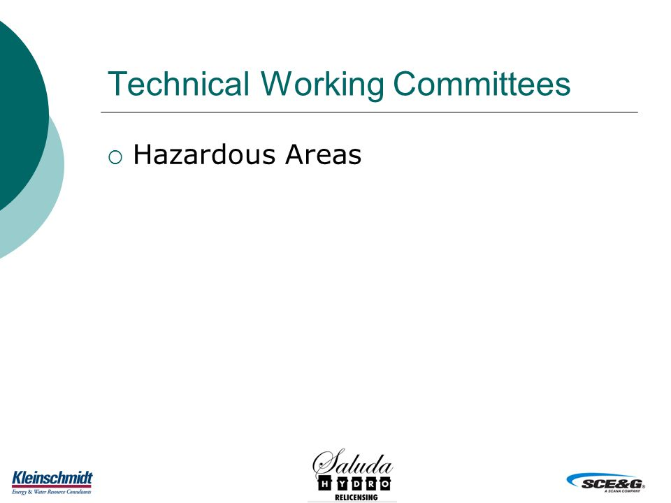 Technical Working Committees  Hazardous Areas