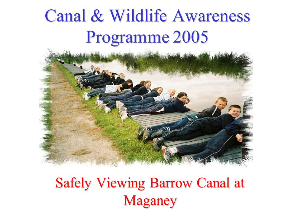 Canal & Wildlife Awareness Programme 2005 Safely Viewing Barrow Canal at Maganey