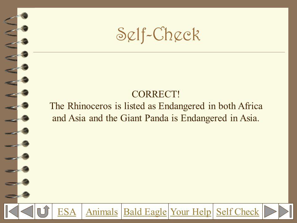 Self-Check CORRECT.