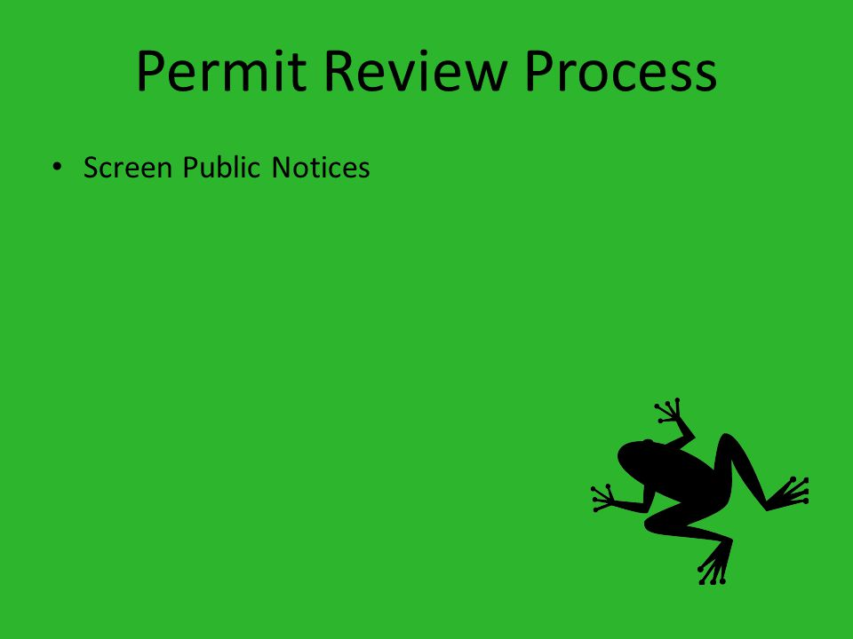 Permit Review Process Screen Public Notices