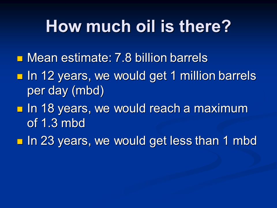 How much oil is there.