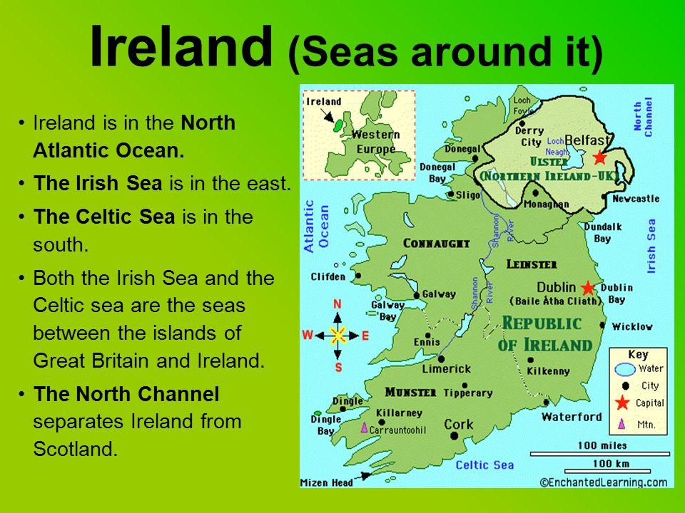 Ireland (physical map) SIZE: 84,421 sq Km (Catalonia: 32,114 sq Km ) HIGHEST MOUNTAIN: Carrauntoohill 1,041m LONGEST RIVER: The Shannon (386km) BIGGEST LAKE: Lough Neagh.