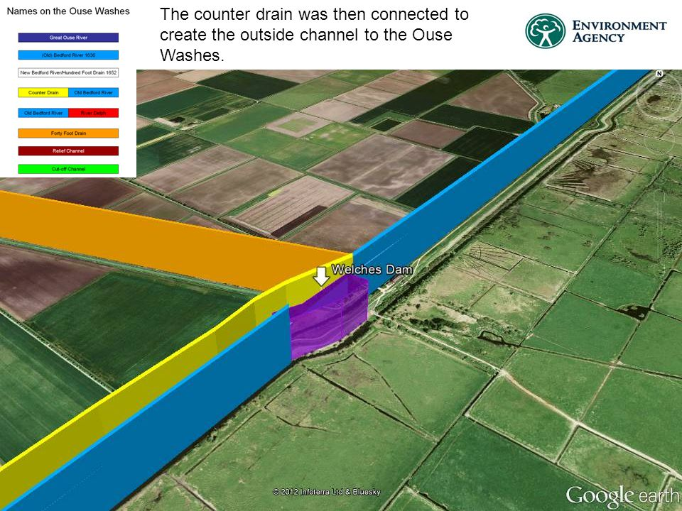 The counter drain was then connected to create the outside channel to the Ouse Washes.