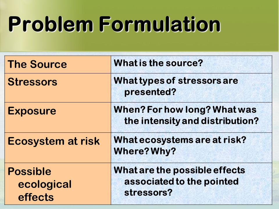 10 Problem Formulation The Source What is the source.