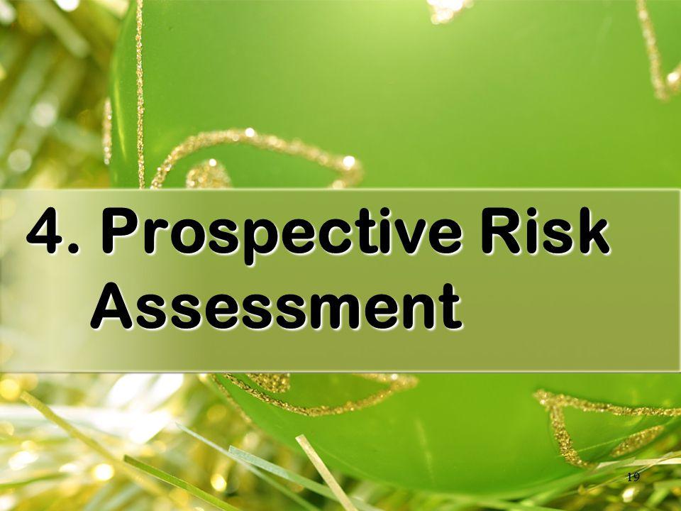 19 4. Prospective Risk Assessment