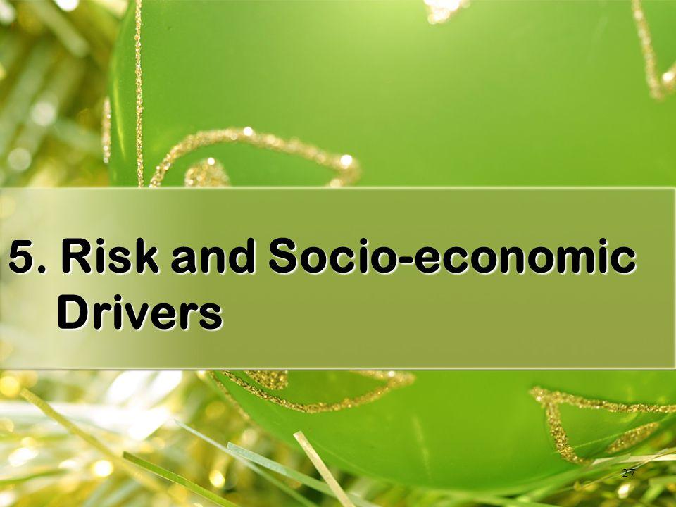 27 5. Risk and Socio-economic Drivers