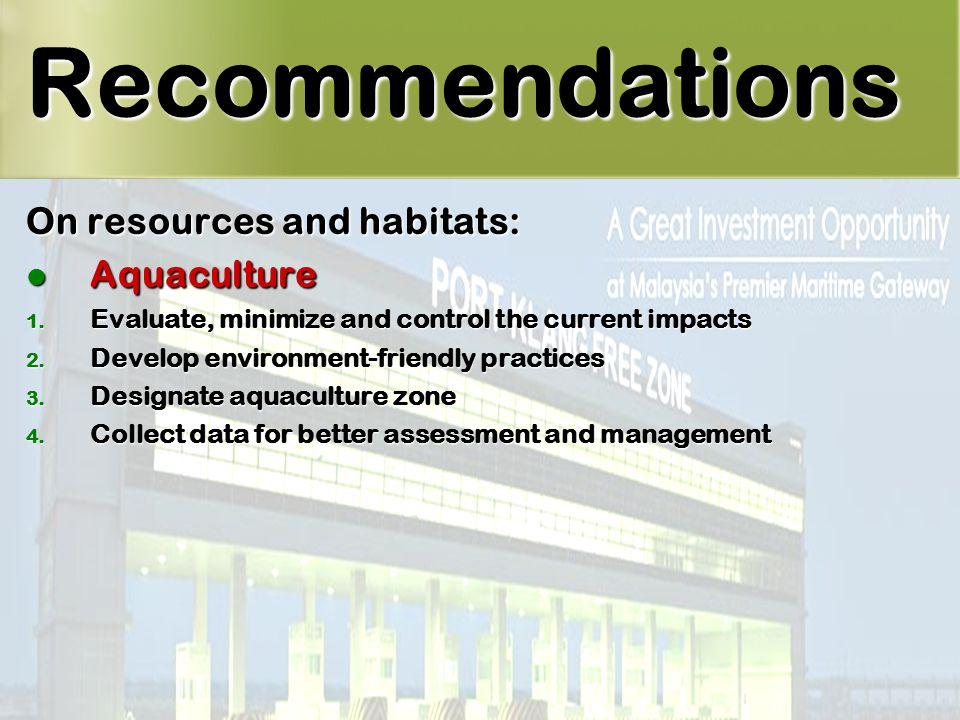 39 On resources and habitats: Aquaculture Aquaculture 1.