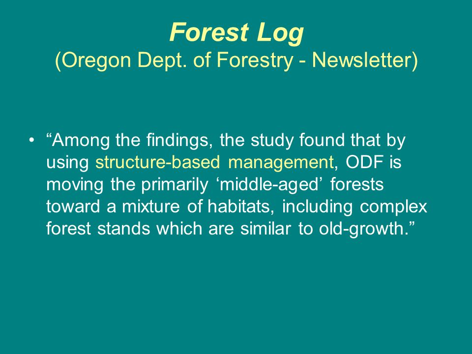 Forest Log (Oregon Dept.