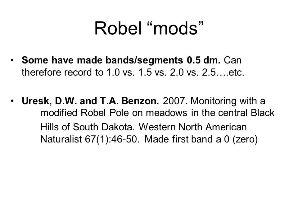 Robel mods Some have made bands/segments 0.5 dm.