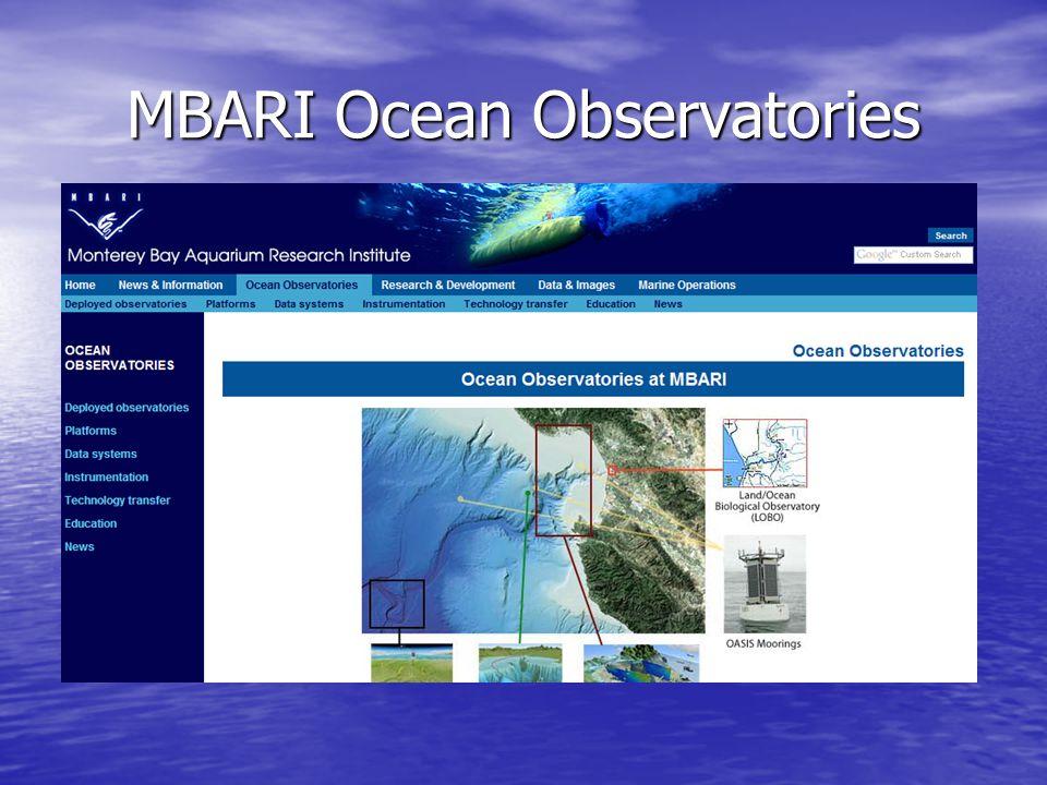 MBARI Ocean Observatories