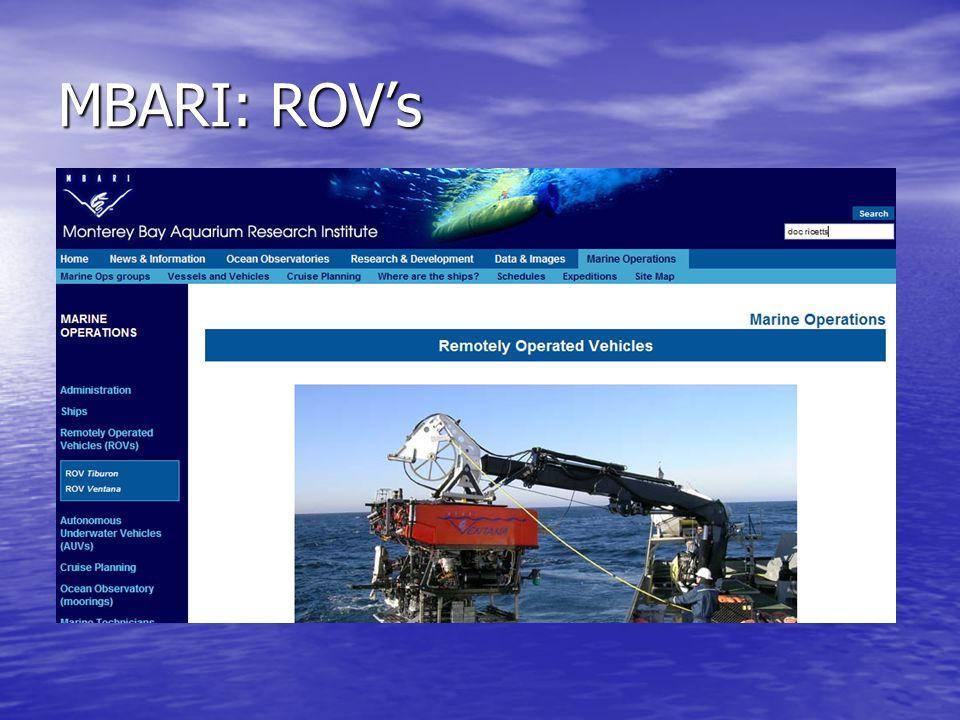MBARI: ROV's