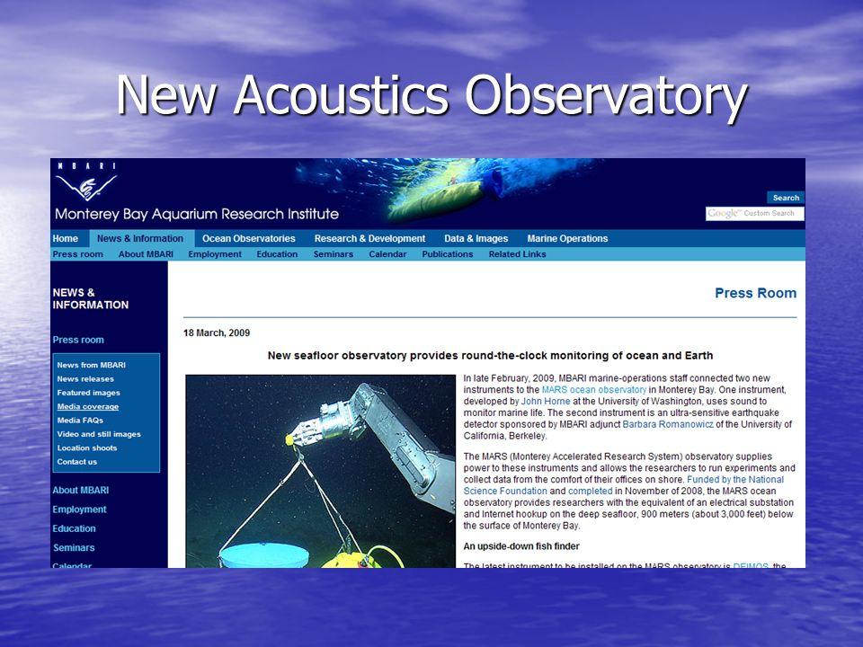 New Acoustics Observatory