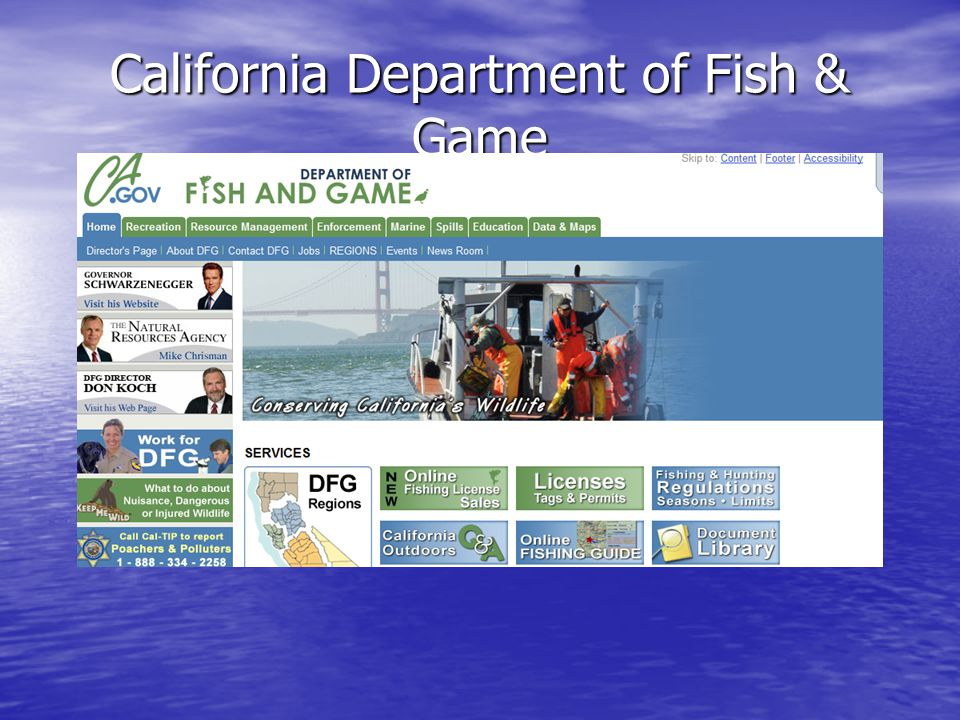 California Department of Fish & Game