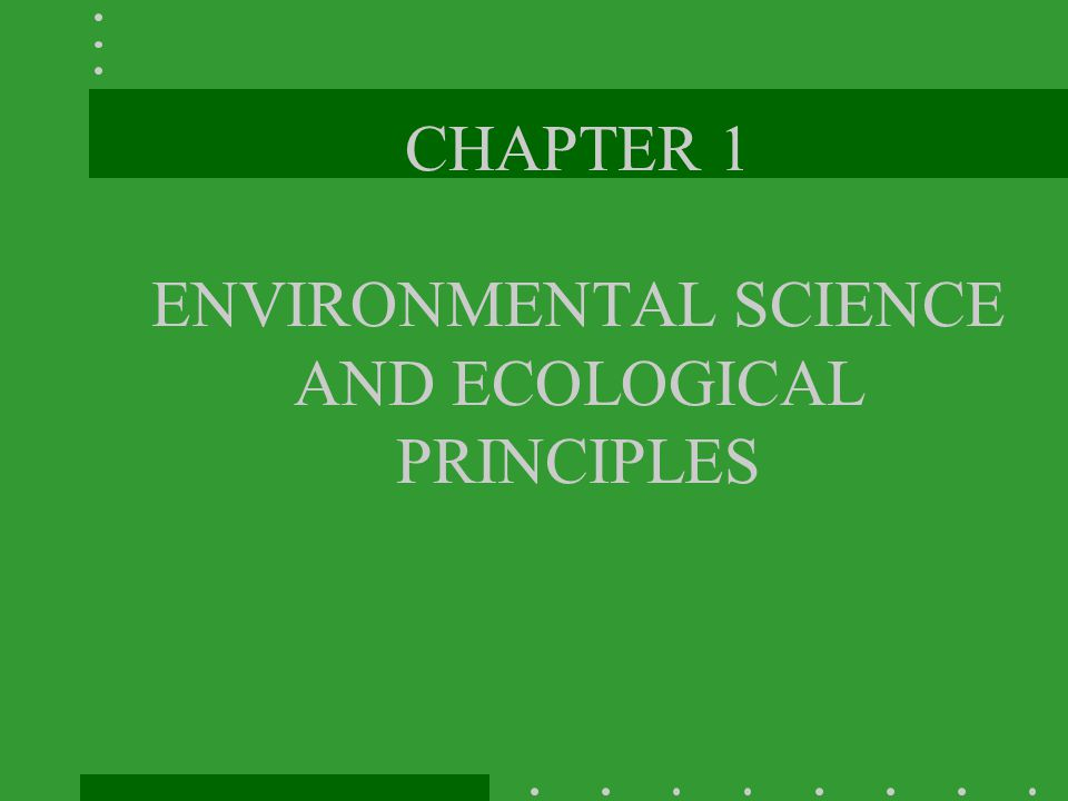 What is Environmental Science.