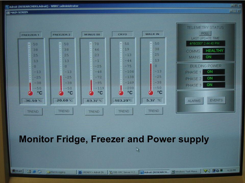 Monitor Fridge, Freezer and Power supply