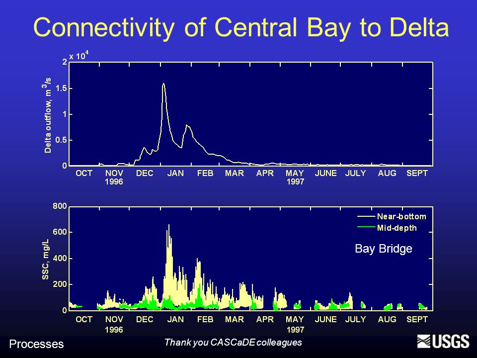 Connectivity of Central Bay to Delta Processes Bay Bridge Thank you CASCaDE colleagues