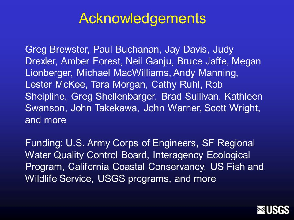 Suspended Sediment Flux Measurements Flux, Sources/sinks