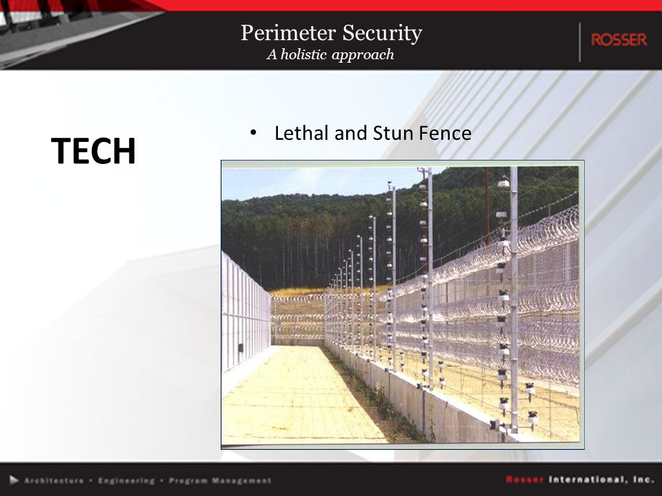 Lethal and Stun Fence TECH Perimeter Security A holistic approach