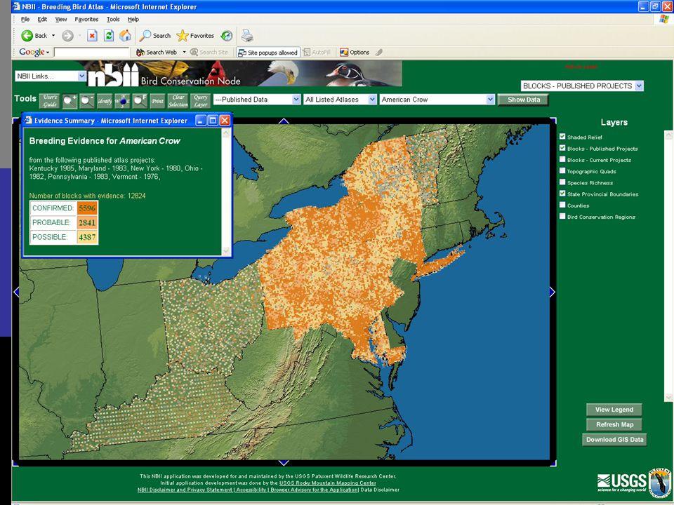 Patuxent Wildlife Research Center Biodiversity informatics HCIL workshop