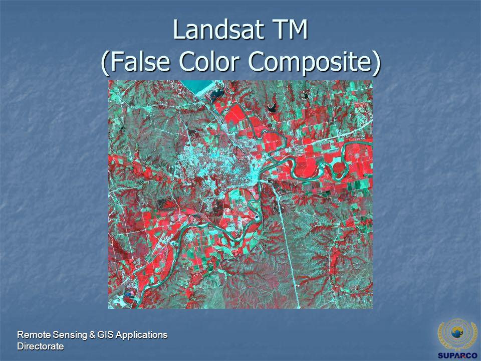 Remote Sensing & GIS Applications Directorate Landsat TM (False Color Composite)