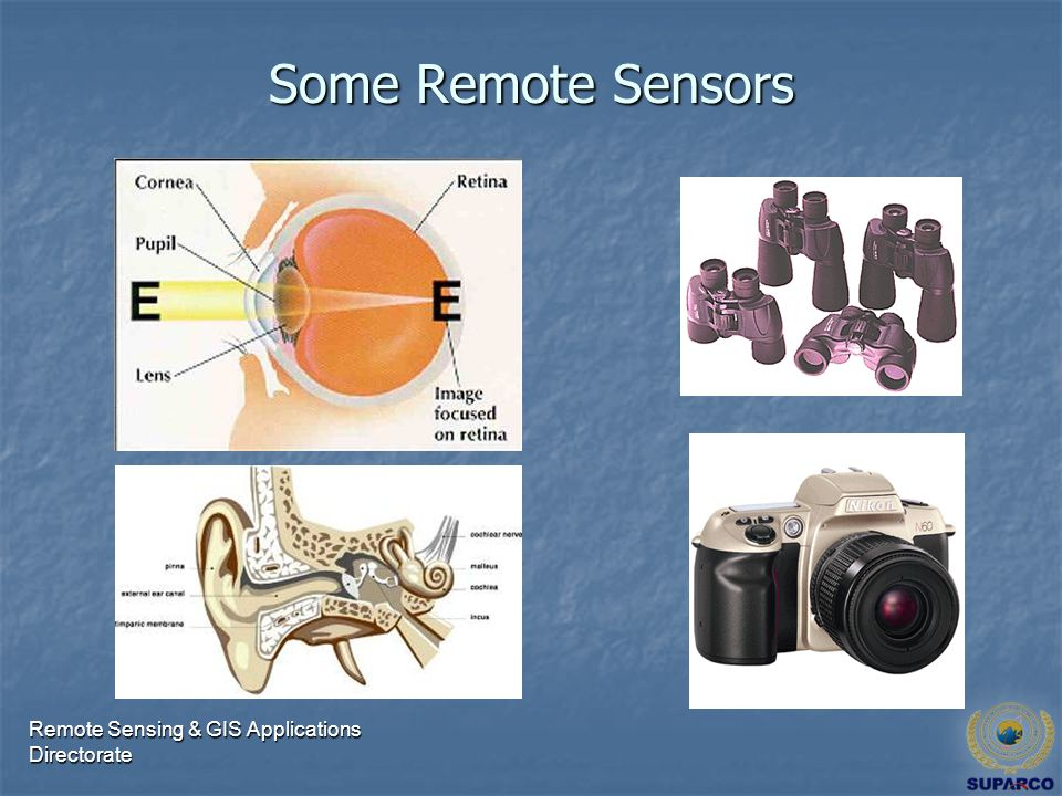 Remote Sensing & GIS Applications Directorate Some Remote Sensors