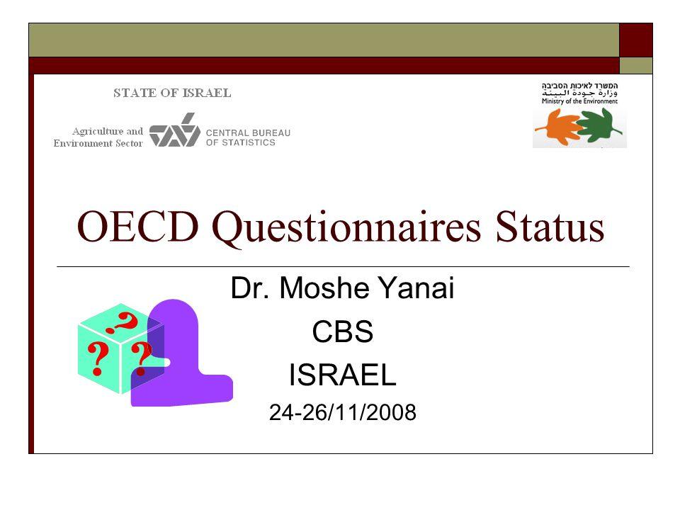 OECD Questionnaires Status Dr. Moshe Yanai CBS ISRAEL 24-26/11/2008
