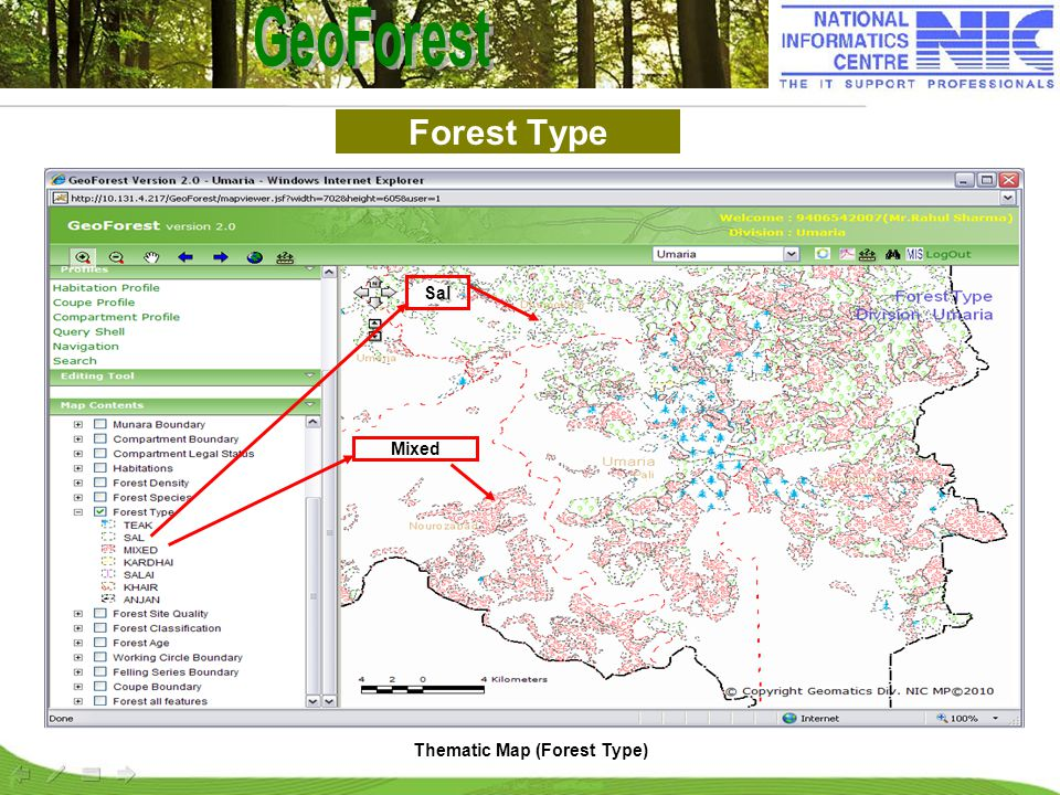 Forest Type Thematic Map (Forest Type) Mixed Sal