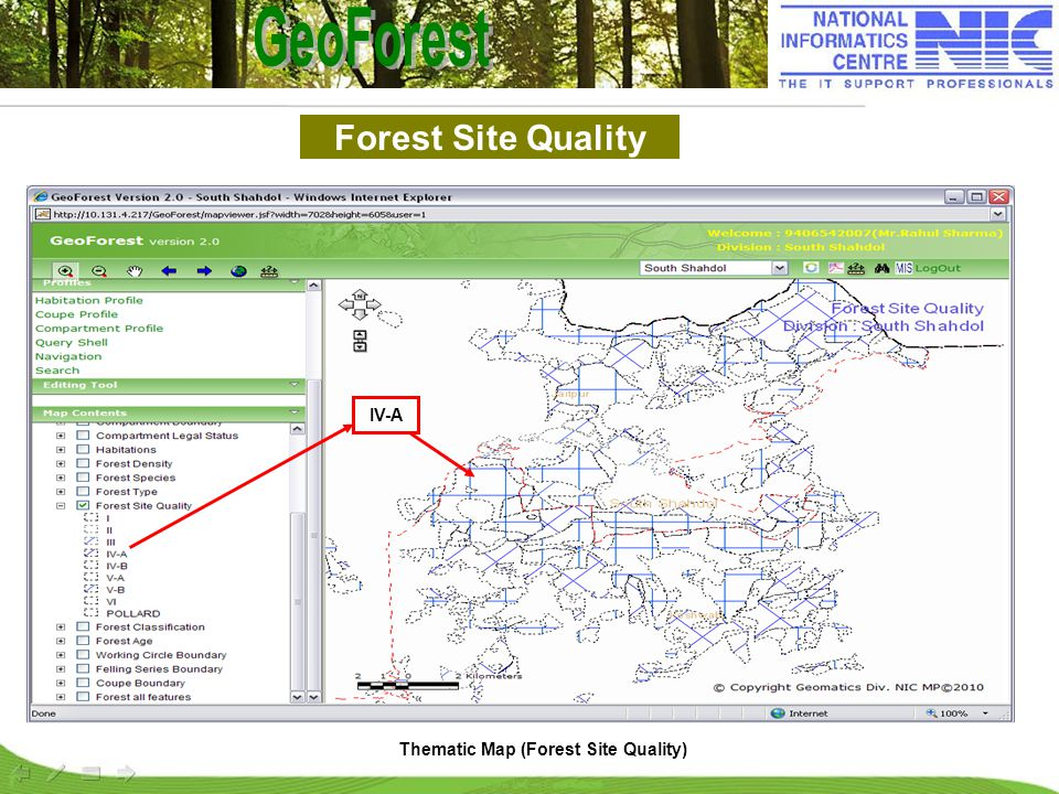 Forest Site Quality Thematic Map (Forest Site Quality) IV-A
