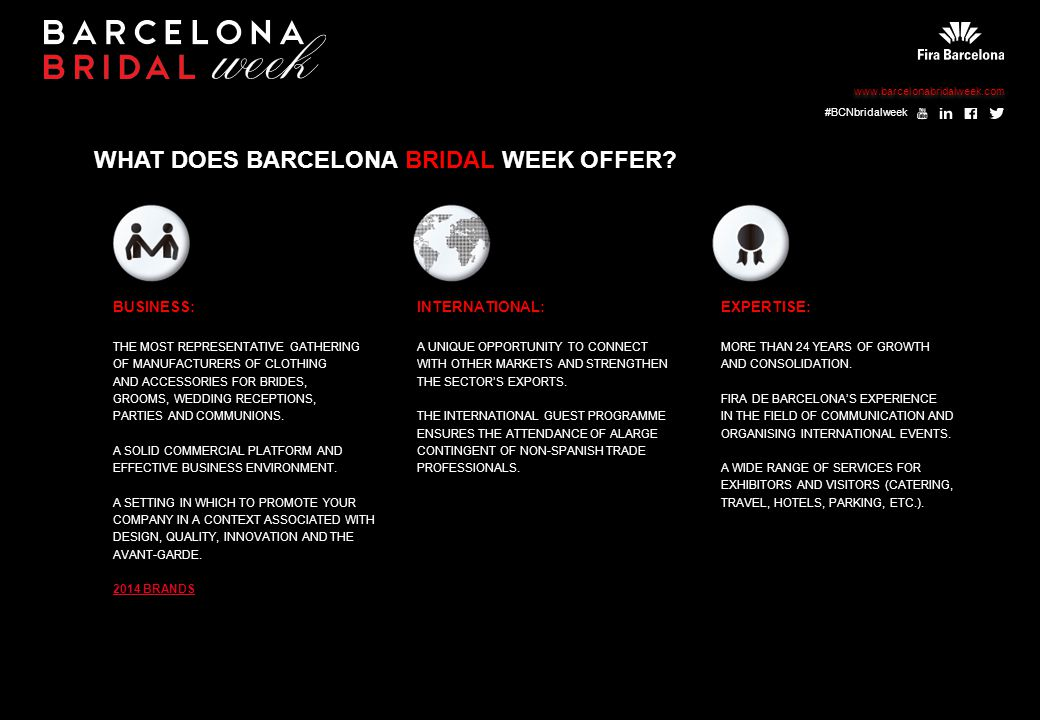 WHAT DOES BARCELONA BRIDAL WEEK OFFER.