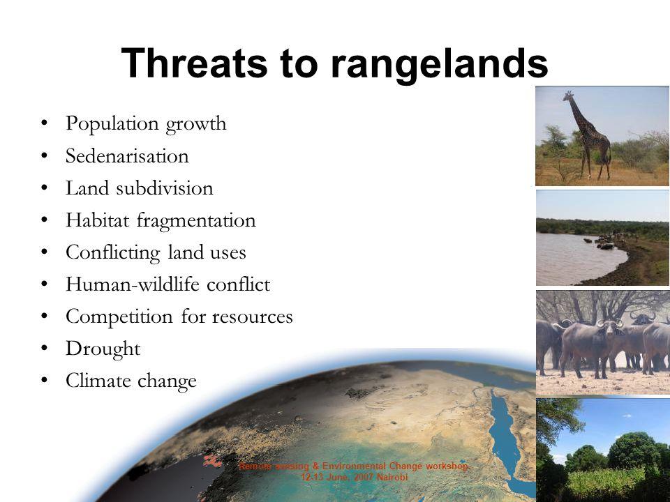 Remote sensing & Environmental Change workshop.