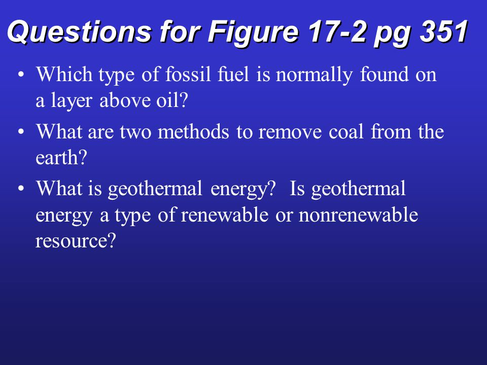 North American Energy Resources Fig. 17-9 p. 357