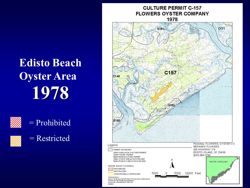 1978 1978 = Prohibited = Restricted Edisto Beach Oyster Area