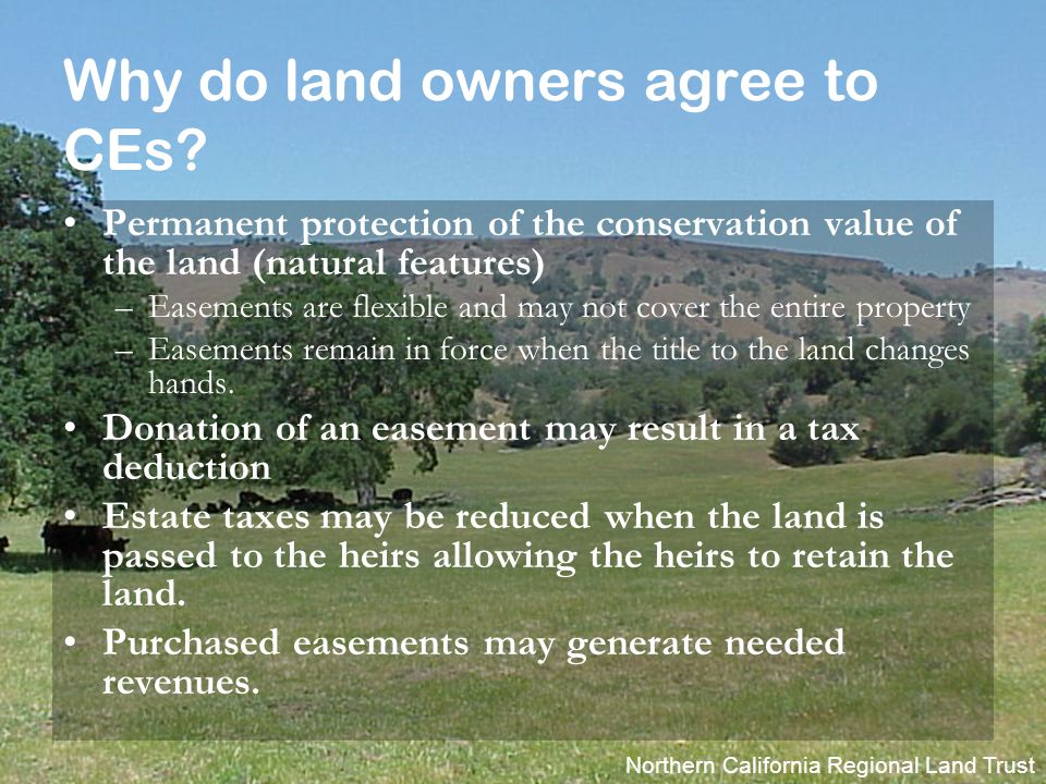 Northern California Regional Land Trust How do easements work.