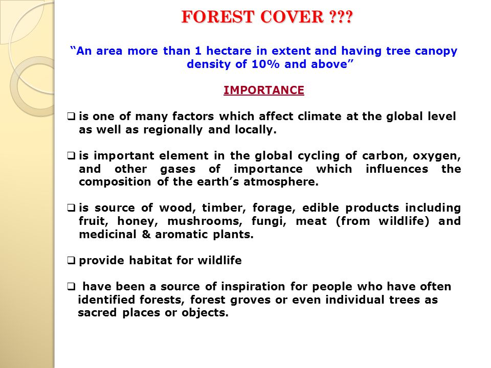 FOREST COVER .