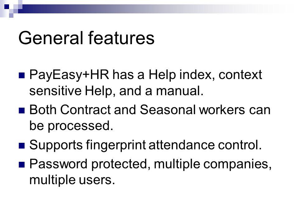 Using – Reports menu Generate salary slips