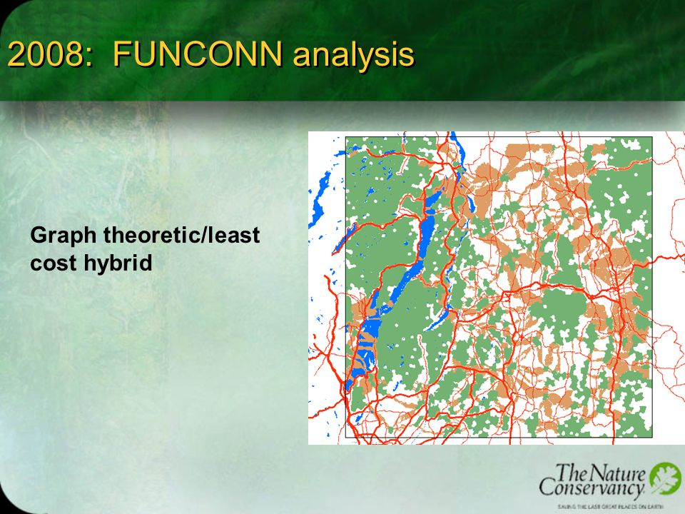 2008: FUNCONN analysis Graph theoretic/least cost hybrid