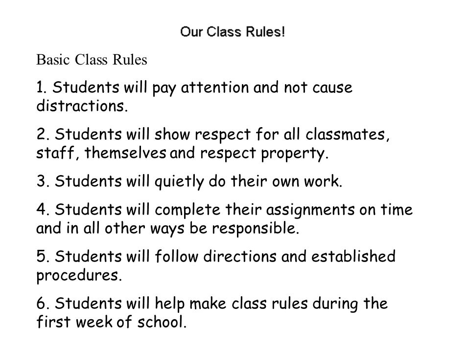 Consequences 1.Students will be given a verbal warning.