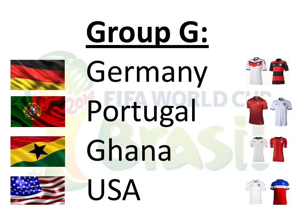 Group G: Germany Portugal Ghana USA