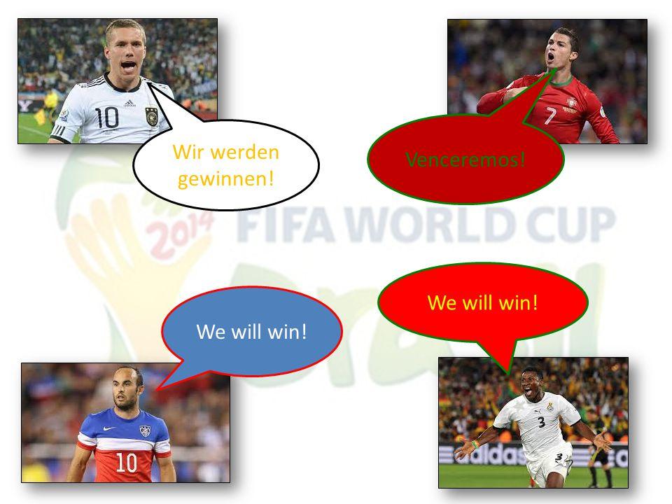 Wir werden gewinnen! Venceremos! We will win!